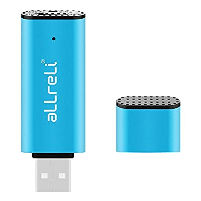 aLLreLi CP00341 2-in-1 8GB Mini USB Voice Recorder [Blue] - Portable Rechargeable Digital Spy Dictaphone & USB...