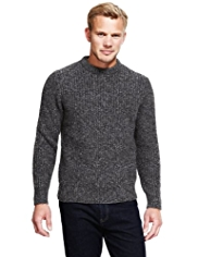 Blue Harbour Heritage Lambswool Blend Flecked Chunky Knit Jumper