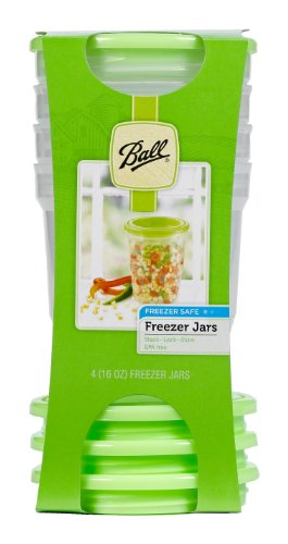 Ball® Plastic 16-Ounce Freezer Jar, Set of 4 (by Jarden Home Brands)