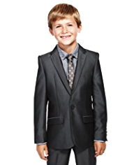 Autograph Notch Lapel Sheen Blazer