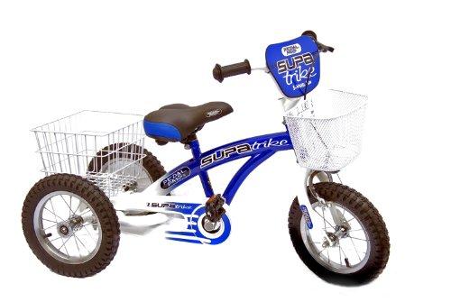 Pedal Pals Boy's Trike 100% Assembled Trike - Blue/White, 12 Inch