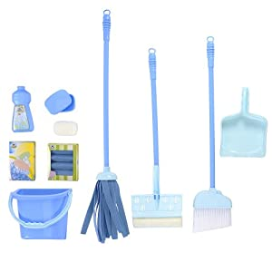 Just Like Home Deluxe Cleaning Set - Blue: Amazon.co.uk: Toys & Games