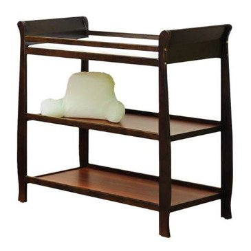 Naomi Changing Table In Espresso Finish With Changing Pad front-655919