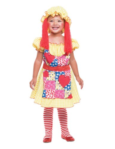 Baby-Toddler-Costume Rag Doll Toddler Costume 2T Halloween Costume - 2T