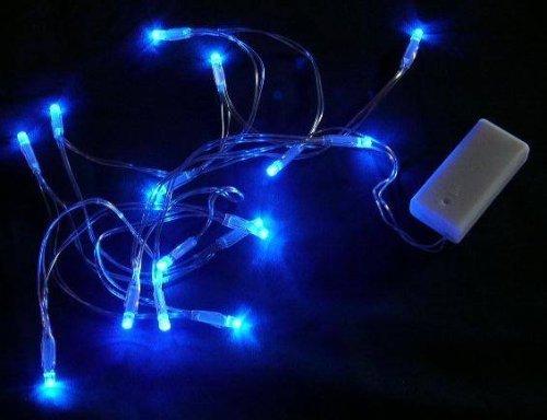 Batteriebetriebene LED-Lichterkette blau 15 Lampen - Static (ideal für den Einsatz weddi ...