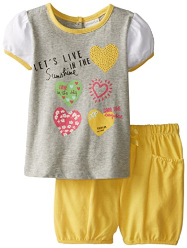 ABSORBA Baby Girls' Hearts Short Set, Multi, 12 Months