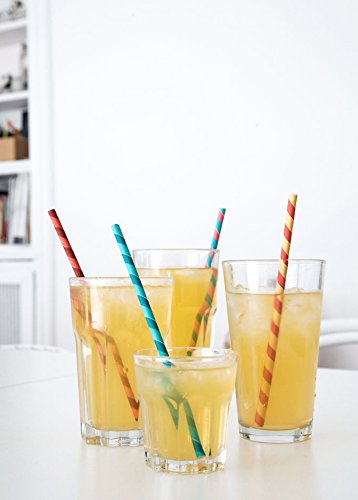 cheap paper striped straws