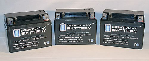 Ytx4L-Bs Replaces Drr All Models Motorcycle Battery - 3 Pack