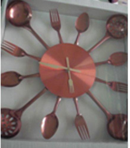 Kitchen Wall Clock 13-inch - Spoon Fork Decorative