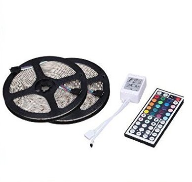 Soled 32.8Ft 600LED(Two Rolls) 5050 SMD Waterproof Flexible Multicolor RGB LED Light Strip For Decoration + 44 Key Remote Controller (Rope Lights 75 Feet compare prices)