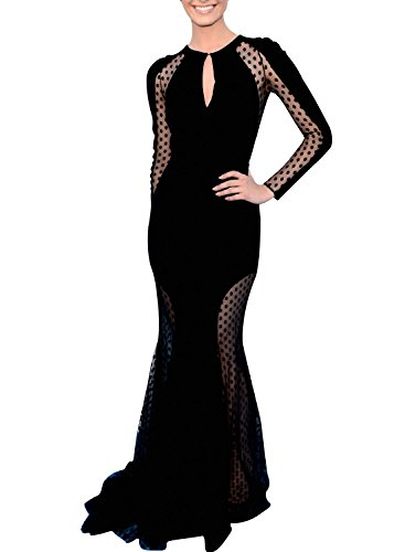 Great Group Halloween Costumes: The Addams Family - Morticia Black Keyhole Evening Dress
