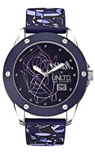 Marc Ecko Unisex Quartz Watch with Purple Dial Analogue Display and Purple Silicone Strap E09530G4