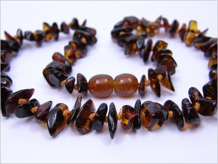 Baltic Amber Baby Teething Necklace – Dark Amber