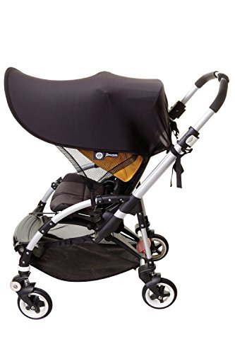 Dreambaby Strollerbuddy Extenda-Shade, Black, Large