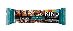 KIND Nuts & Spices, Dark Chocolate Nuts & Sea Salt, 24 Bars