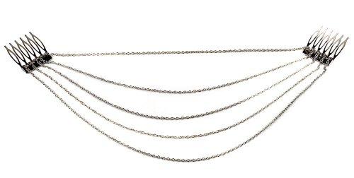 Fashion Tassel Hair Comb Chain Clip Women's Hair