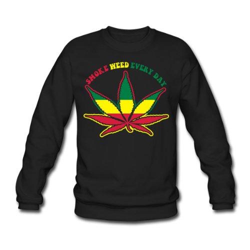 Spreadshirt, smoke weed every day, Men's Sweatshirt, black, XXL