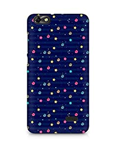 Amez designer printed 3d premium high quality back case cover for Huawei Honor 4C (star spiral blue )