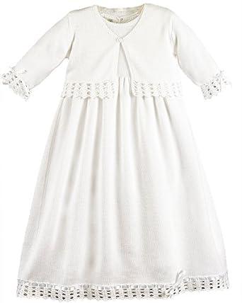 Annalise Newborn Knit Christening Baptism Blessing Gowns