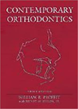 By William R. Proffit DDS PhD - Contemporary Orthodontics, 3e (3rd Edition) (1999-09-08) [Hardcover] written by William R. Proffit DDS PhD