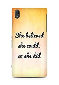 AMEZ she believed she could so she did Back Cover For Sony Xperia Z2