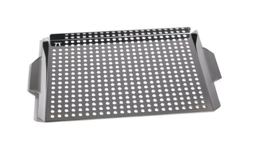 Outset Stainless Steel Large 17X11″ Grill Grid W/ Handles Shish Kabob Fish New kaufen