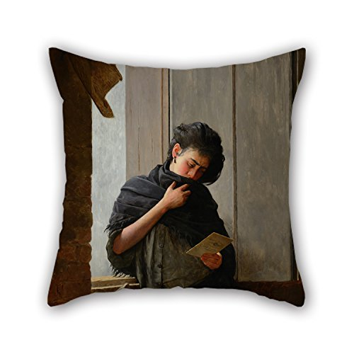 Beautifulseason The Oil Painting Almeida Júnior - Saudade (Longing) Pillowcover Of ,20 X 20 Inches / 50 By 50 Cm Decoration,gift For Divan,bedding,husband,bedroom,boy Friend,home (double Sides) (Spongebob Season 10 compare prices)