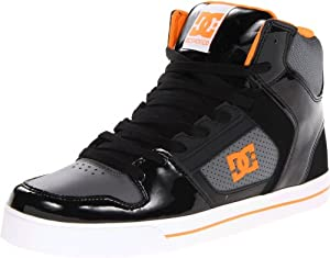 DC Men's Base Sneaker,Black/Orange,8.5 M US
