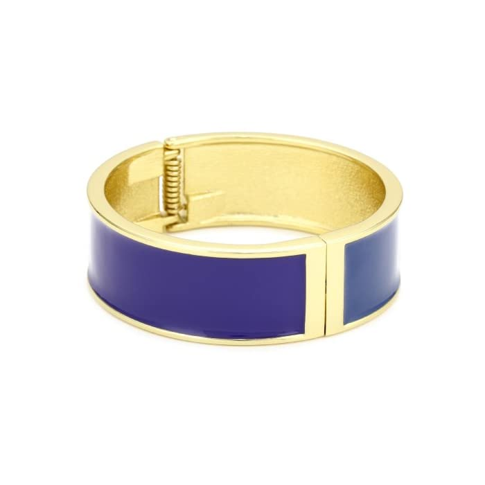 Adia Kibur Two Color Blue and Purple Lines Cuff Bracelet