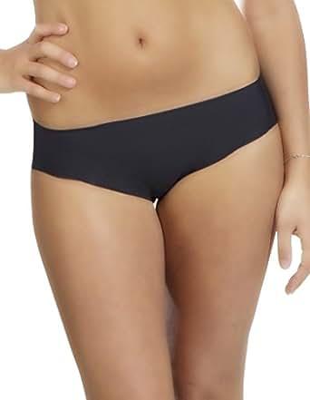 Liz Tatoo Black Laser Cut Seamless Bikini Brief at Amazon Women's
