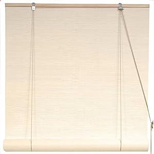 Oriental Furniture 24-Inch Cream Bamboo Blinds