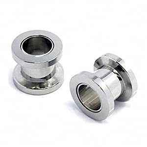 Flesh Tunnel Plug Piercing Silverline - 6.5mm