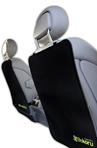 Kick Mats By Bekoru Travel-Premium Large Car Seat Back Protectors (2 Pack) -Fits Most Vehicles -Simple Installation -Top Quality-Protect Your Investment Now!