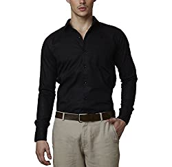 Lisova Men's Formal Shirt (LI/SHRT/084_Black_XX-Large)