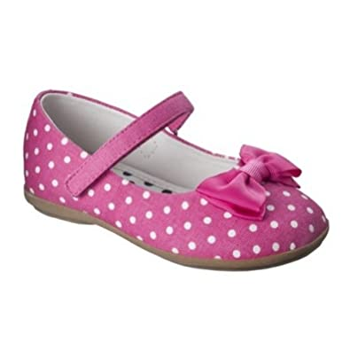 toddler pink polka dot ballet flats jaray