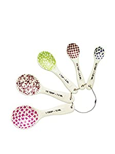 Rae Dunn Measuring Spoons - Set of 5 Stoneware