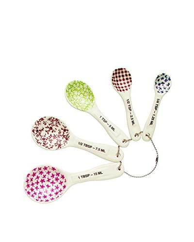 Rae Dunn by Magenta Measuring Spoons, White