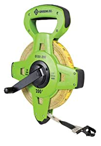 Greenlee 0155-200 Fiberglass Measuring Tapes, Double Sided, 200-Foot