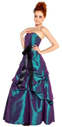 Strapless Taffeta Bridesmaid Prom Holiday Formal Gown Long Dress Junior Plus Size