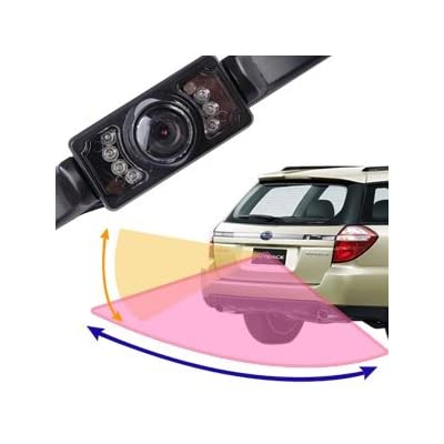 LED Night Vision Wide-Angle Waterproof REAR VIEW REVERSE / PARKING COLOR REVERSING CAMERA, with 5m Video Cable