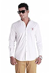 Sting White Solids Slim Fit Casual Shirt