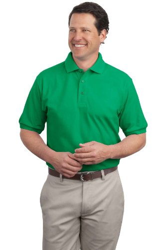 Port Authority - Silk Touch Polo. K500 - Kelly Green_M