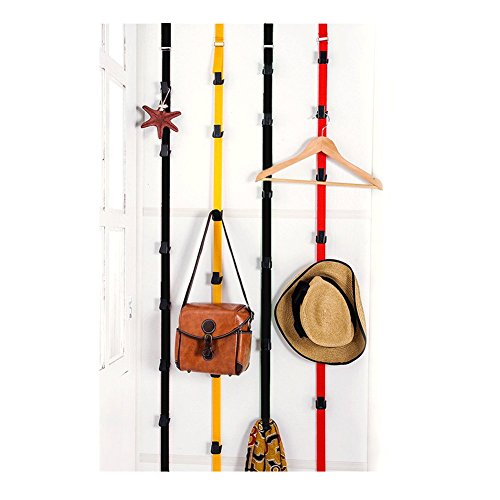 Biowow 2 Pack Baseball Cap Rack 18 Systerm Holder Over The Door Organizer Black (Cap Rack Over The Door compare prices)