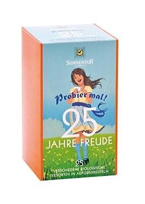 Sonnentor 25 Jahre Freude-Jubiläums Probier mal kbA, Aufgussbeutel, 25 Stk., 3er Pack (3 x 36 g) - Bio von Sonnentor auf Gewürze Shop