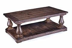 Magnussen T1695-43 Densbury Natural Pine Finish Wood Rectangular Cocktail Table