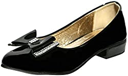 Craze Shop Girls Black Artificial Leather Bellies - 9 UK
