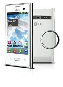 LG E400 Optimus L3 Smartphone (8,1 cm (3,2 Zoll) Touchscreen, 3 Megapixel Kamera, UMTS, WiFi, Android 2.3) weiß