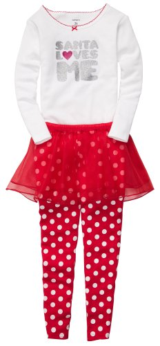 Carter'S Baby Girls' 3-Pc L/S Holiday Dress Up Set - Santa Loves Me - 18 Months front-12242