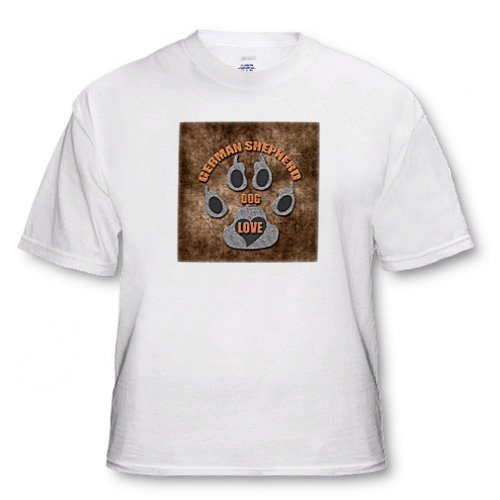 German Shepherd Dog Love Dog Breed in Gray and Brown - Adult T-Shirt Small