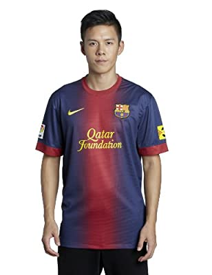 Soccer Nike Barcelona FC 2012/13 Home Soccer Jersey - Red/Navy Blue (Medium)